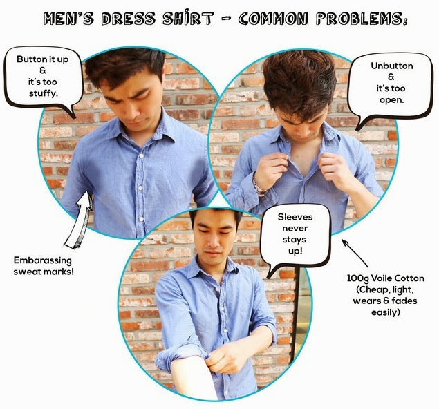 Functional clothing men dress shirts