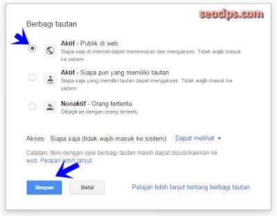 Langkah ke lima untuk upload atau unggah file ke Google drive