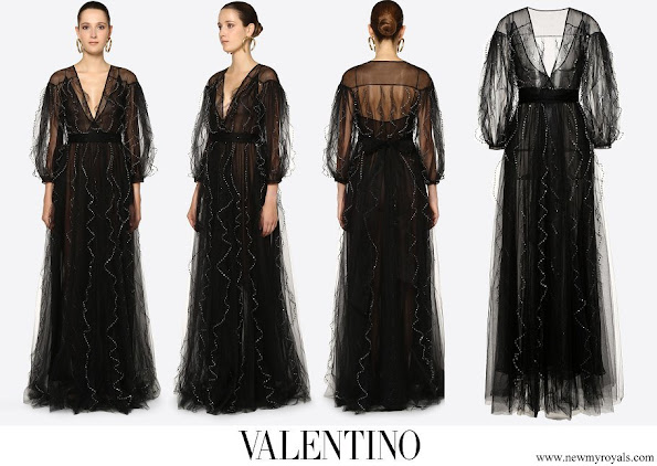 Meghan Markle wore Valentino Embellished Tulle Evening Dress