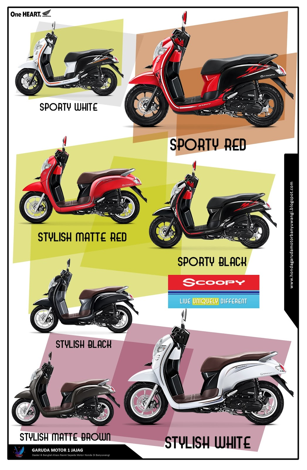 Honda Scoopy Warna Merah Tilan Honda Scoopy Warna Merah Terbaru