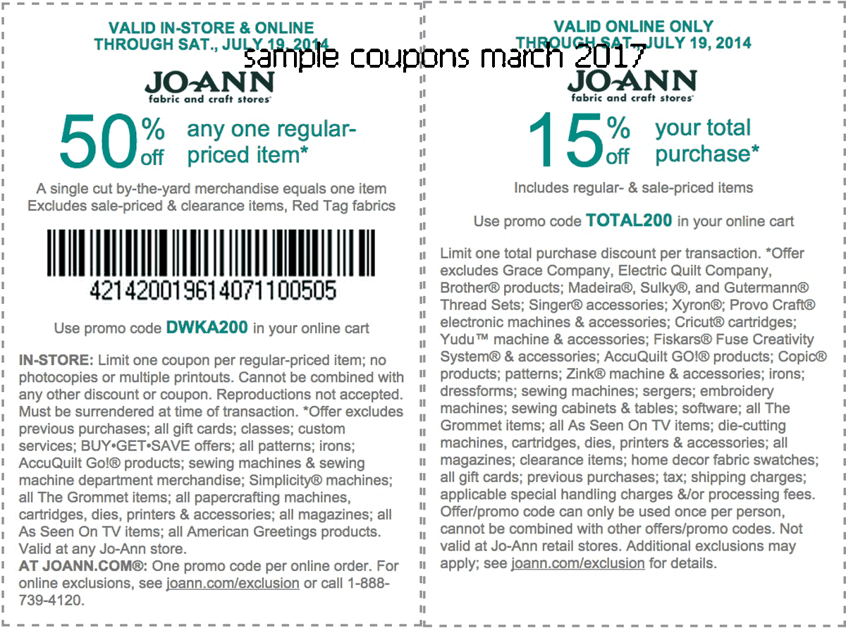 joann coupons february 2019