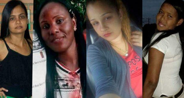 Cuatro feminicidios en menos de doce horas este jueves