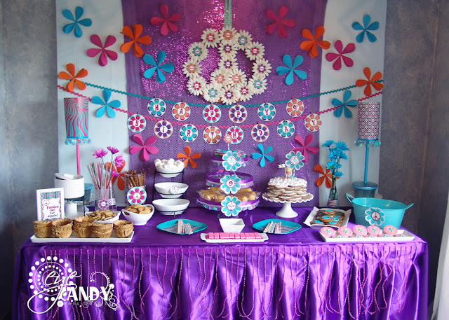 peace party dessert table, peace party decor ideas, fondue