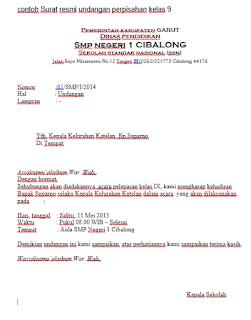 surat resmi - perpisahan sekolah