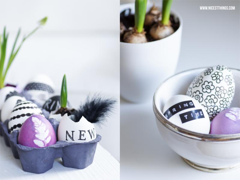 Ostereier bekleben mit DYMO Etiketten und Masking Tape