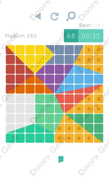 Cheats, Walkthrough for Blocks and Shapes Medium Level 380