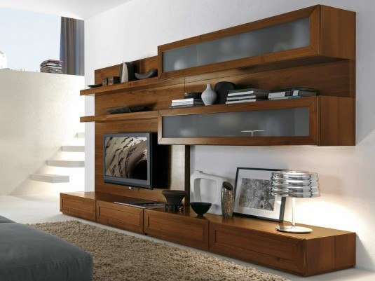 MODERN TV WALL UNITS WITH STORAGE SOLUTIONS