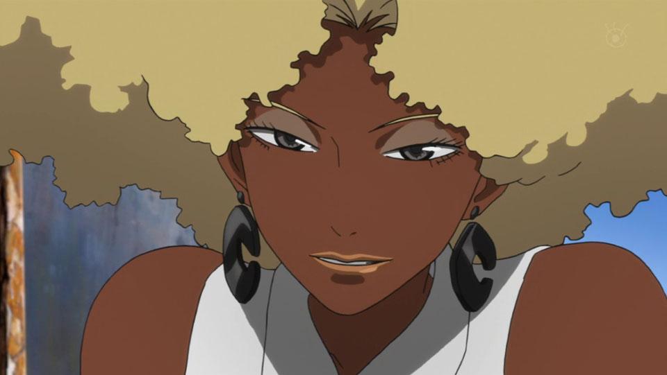 Black anime girl characters