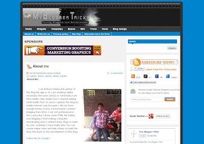 My Blogger Tricks Blogger Template V 1.0