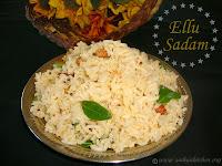 images for Ellu Sadam Recipe / Ellu Podi Sadam / Nuvullu Annam / Til Rice / Sesame Seed Rice - Kannum Pongal Recipe
