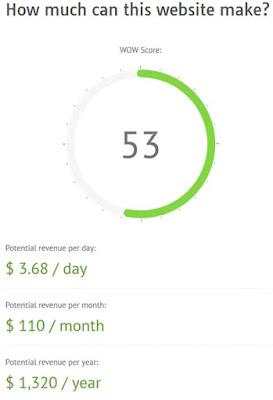 Quanto guadagna un sito in un giorno