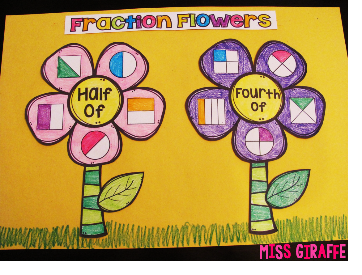 Fraction flowers are my favorite way to learn fractions! Come see how to make these and all the other fun ways we learn about fractions!