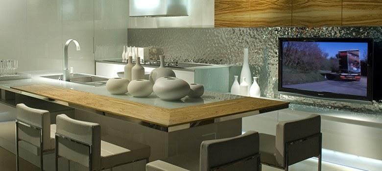 cuisine moderne blanche et bois. Black Bedroom Furniture Sets. Home Design Ideas