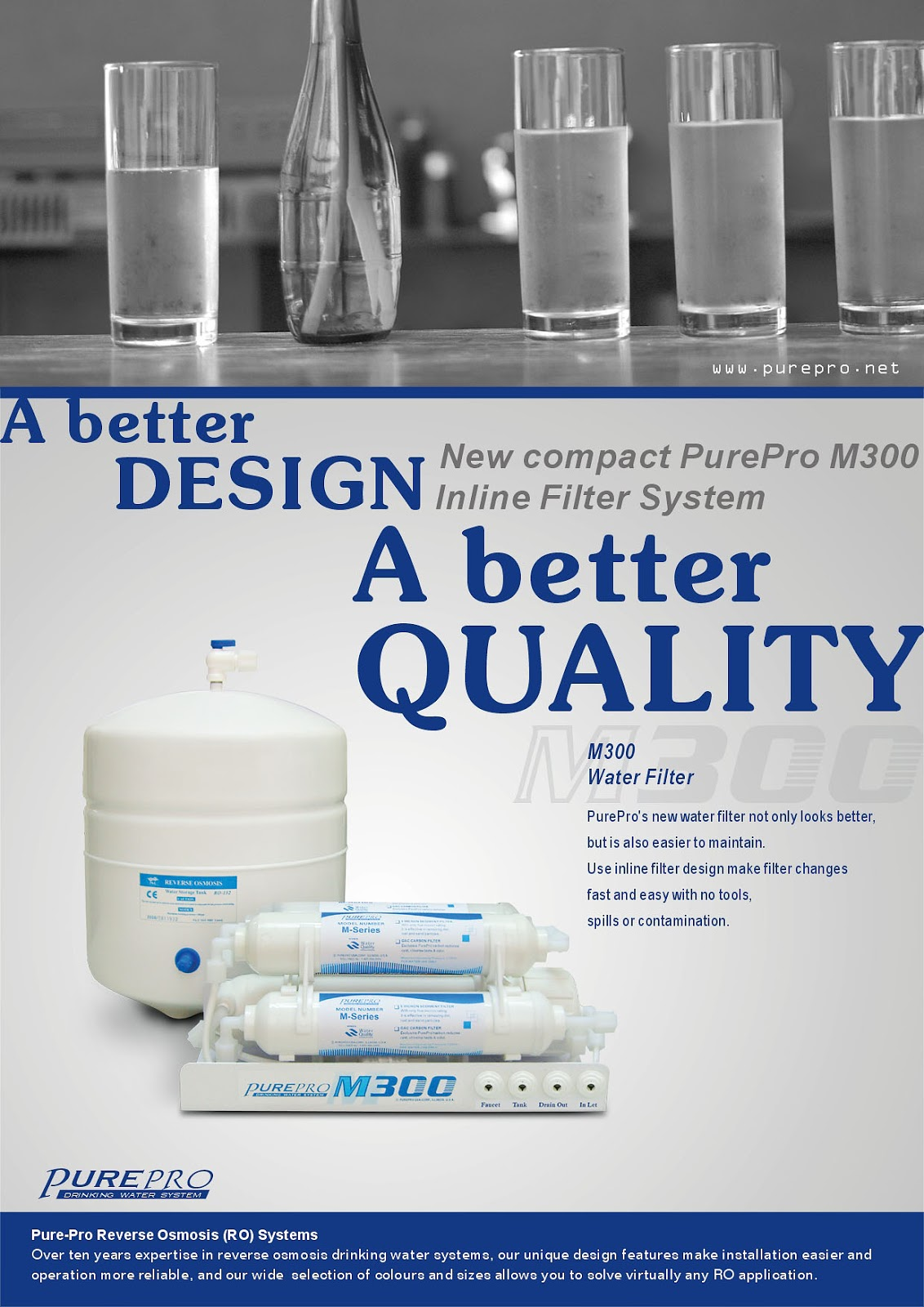 PurePro® M300 Reverse Osmosis Water Filtration System