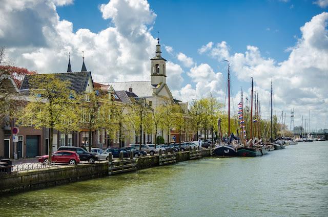 Cidade Muiden na Holanda