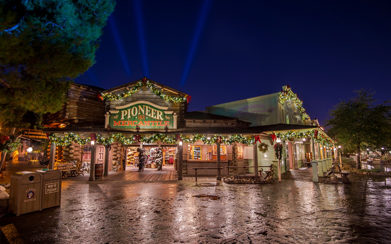 Festive Frontierland After the Rain