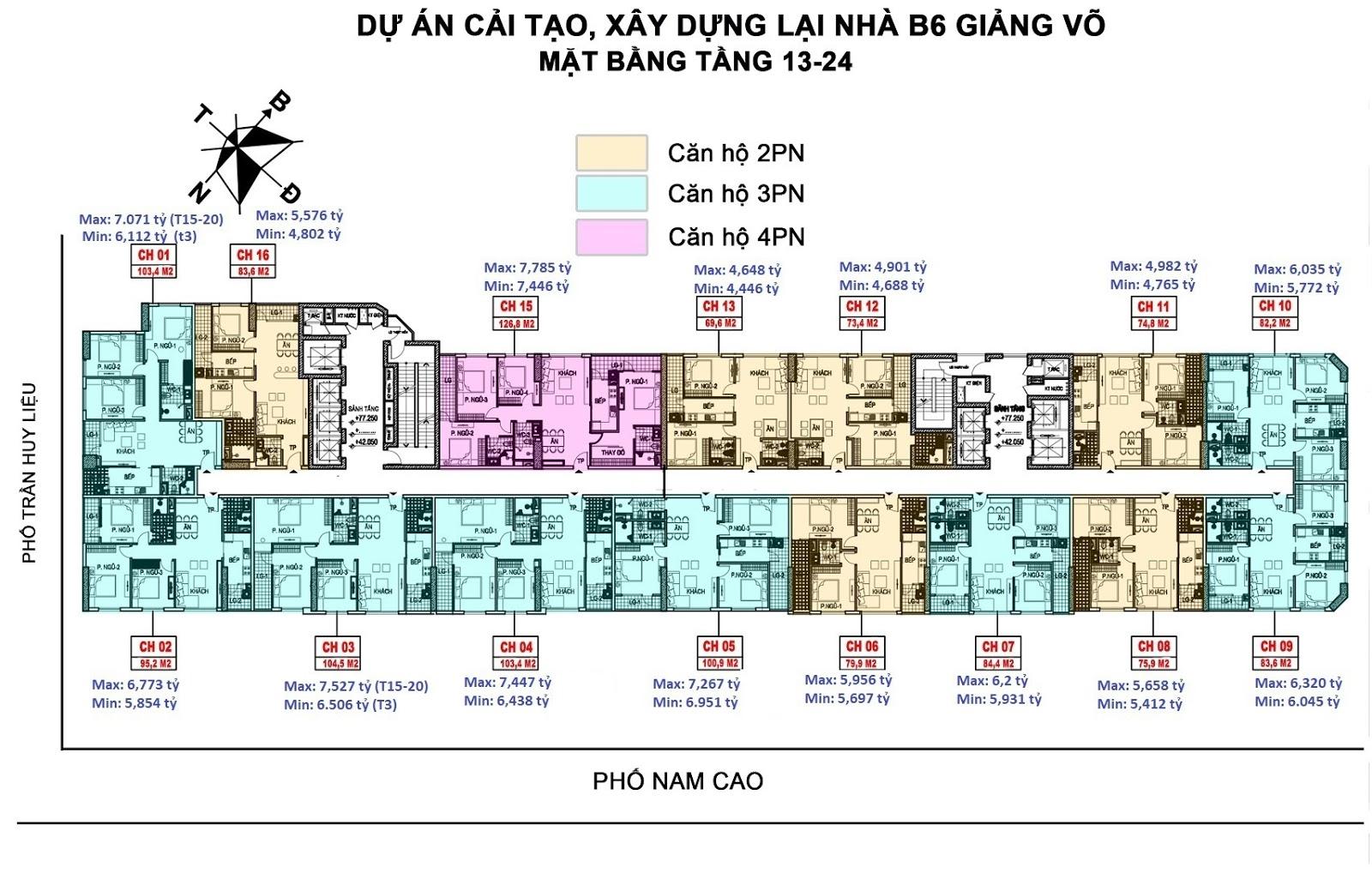 Chung cư B6 Giảng Võ - CT36 Giảng Võ | Trực tiếp CĐT 093.15.68886