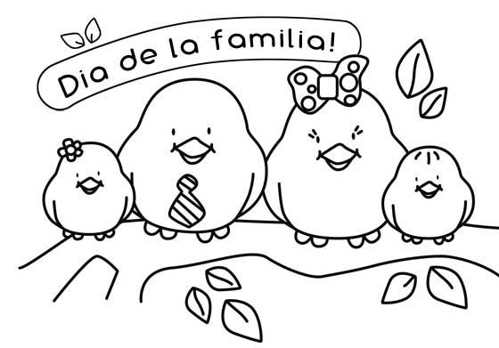 Dibujos Infantiles Para Colorear Sobre La Familia: Dibujos Del Día De La Familia Para Colorear
