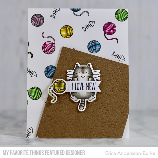 Handmade card by Erica Andersson-Burke featuring products from My Favorite Things #mftstamps
