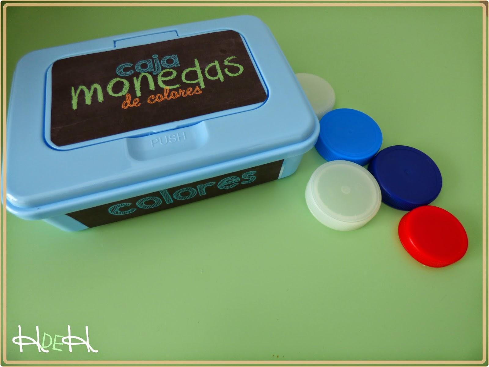 diy caja monedas bebes