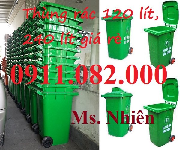 Thùng rác 240 lít giá rẻ nam định- thùng rác 120 lít giá thấp