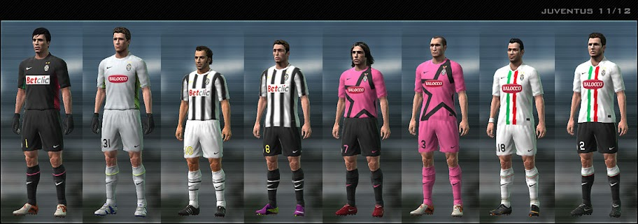 Juventus 11/12 Kit Set by Dark Nero