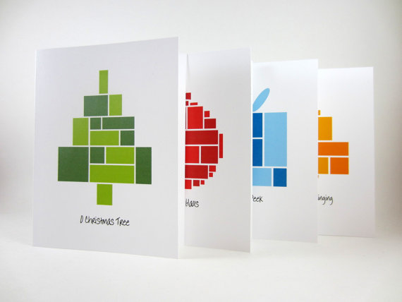 40 Unique Christmas Card Designs - Tutorials Blogger