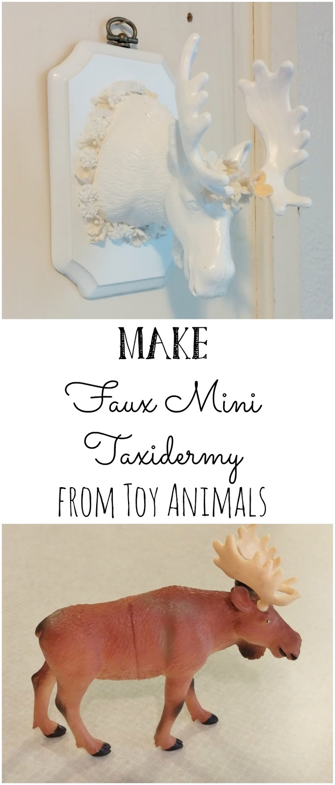 Make Faux Mini Taxidermy from Toy Animals
