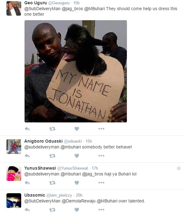 People react as caricature pictures of president Buhari starts trending on Twitter