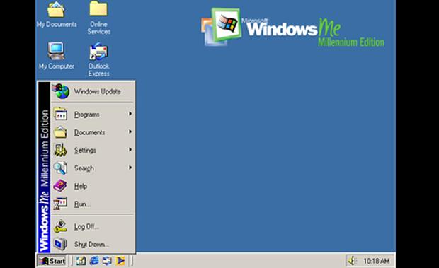 Tampilan Windows ME