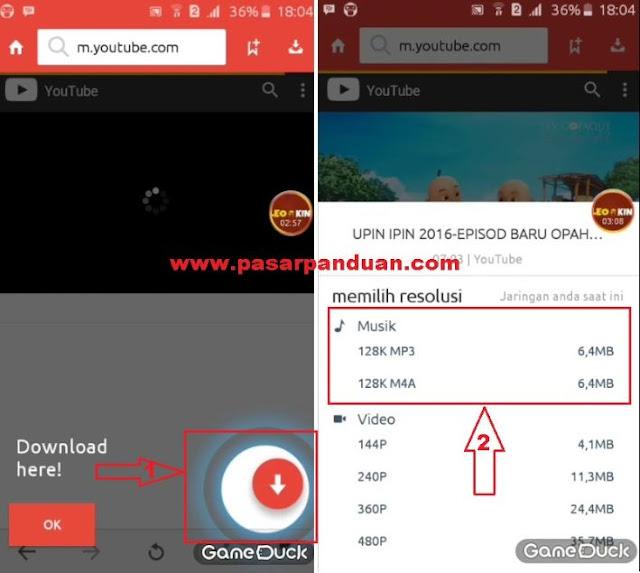 cara download lagu atau mp3 dari youtube dengan aplikasi android