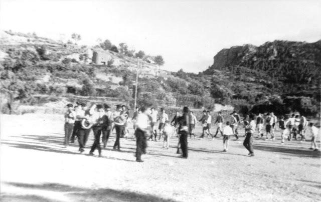 fotos antiguas, Beceite, Beseit, blanco y negro, b&n, blanco, negro, sepia, fiestas, banda música