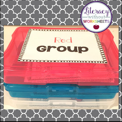 Using photo organizers to keep task cards organized!