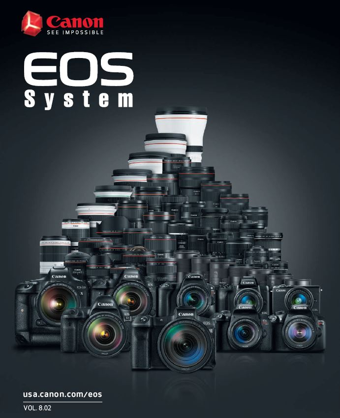 Canon Camera News 2019: Canon EOS Camera System PDF Brochure Vol