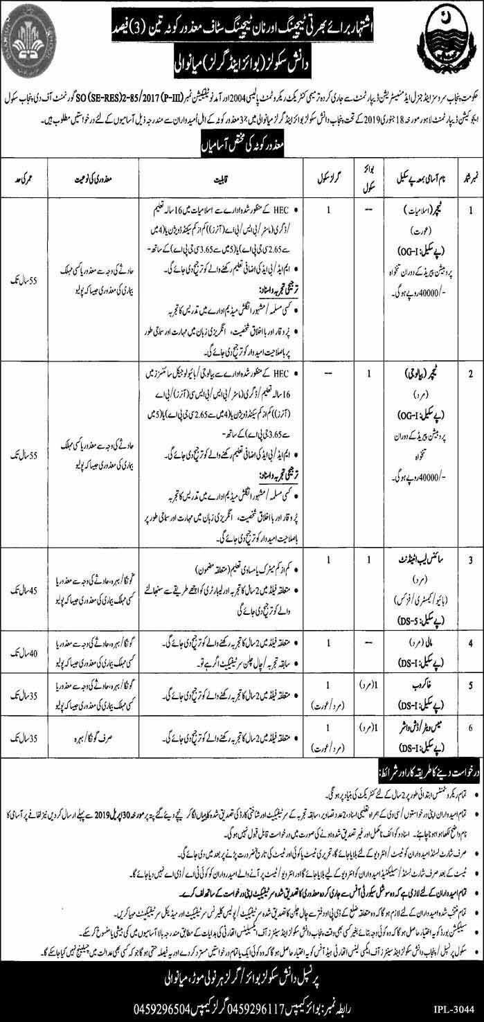 Jobs in Daanish School Mianwali for Teaching Non-Teaching Faculty