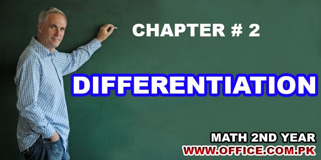 CH2- DIFFERENTIATION MATH NOTES FSC-II 2ND YEAR PDF
