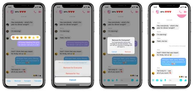 CHÍNH THỨC: Facebook Messenger cho phép người dùng rút lại tin nhắn đã gửi