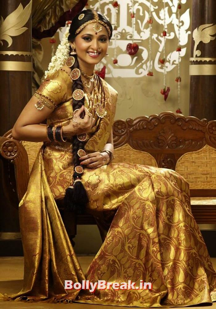 , Tamil Bridal Saree, Makeup, Hairstyle with Flowers, Tutorials, Photos