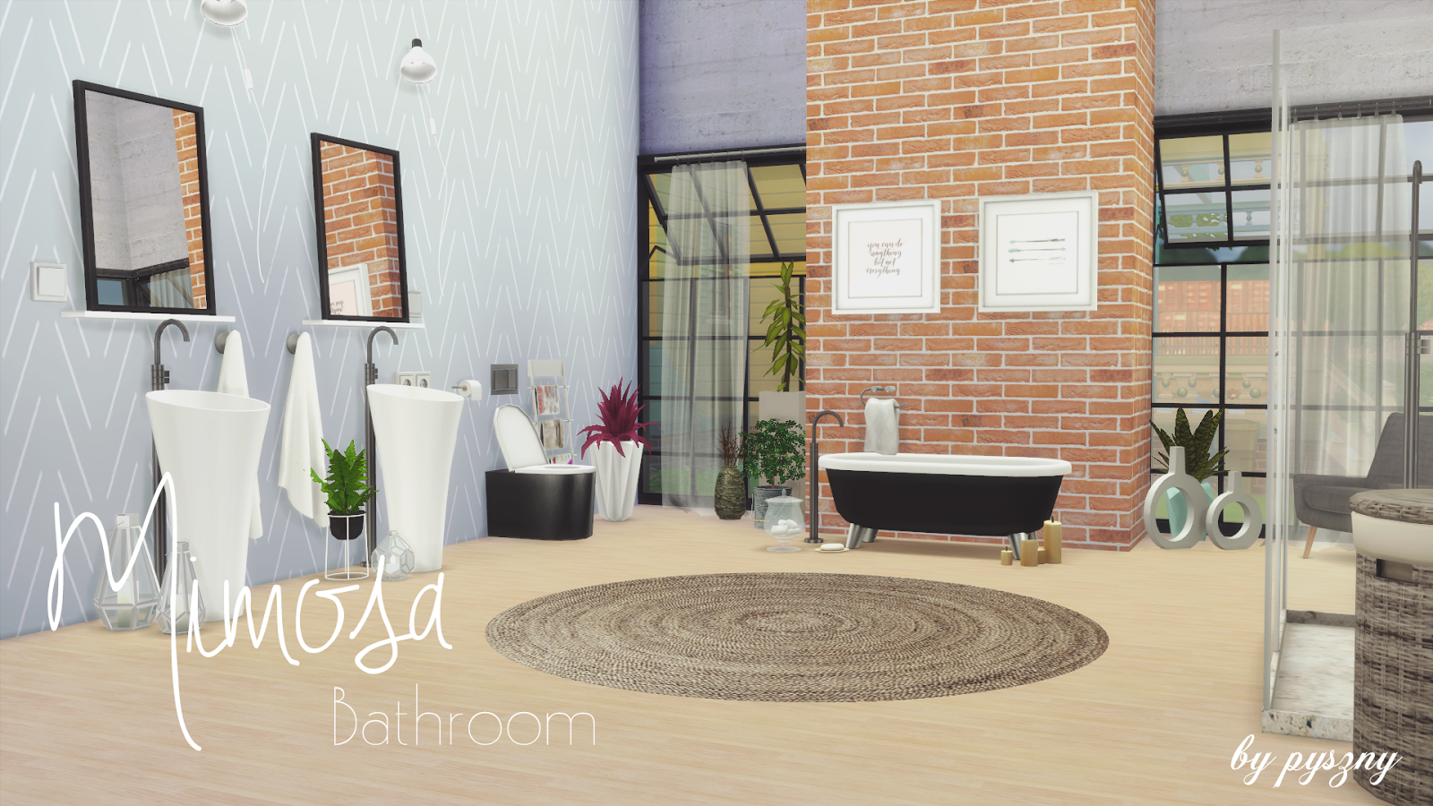 sims 4 cc's - the best: mimosa bathroom set by pyszny, Badezimmer ideen