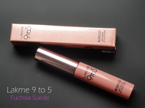 Lakme 9 to 5 Weightless Lip and Cheek Color in Fuchsia Suede