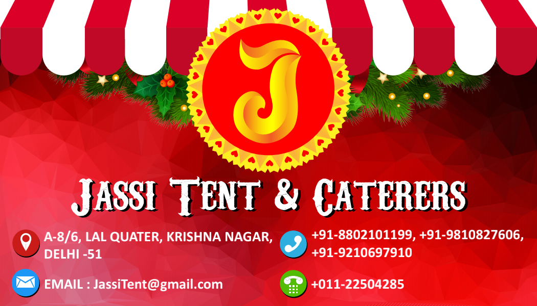 Our Visiting Card Jassi Tent Caterers Best Tent Rental And