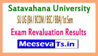 Satavahana University SU UG (BA / BCOM / BSC / BBA) 1st Sem Exam Revaluation Results 2017