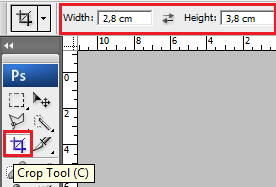 Crop Tool, cara croping
