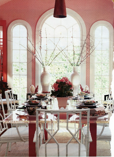 Currently Obsessed Pink Dining Rooms Julia Ryan
