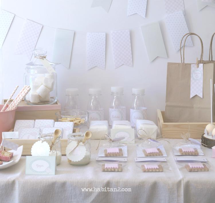 Party-kits personalizados para comuniones diseño de Habitan2 / Decoración de fiestas / Event planner / Diseño gráfico para eventos