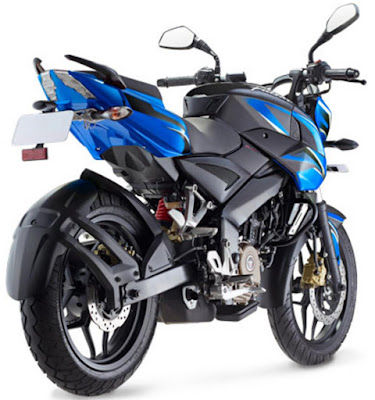 Bajaj Pulsar 200NS Blue rear Hd picture