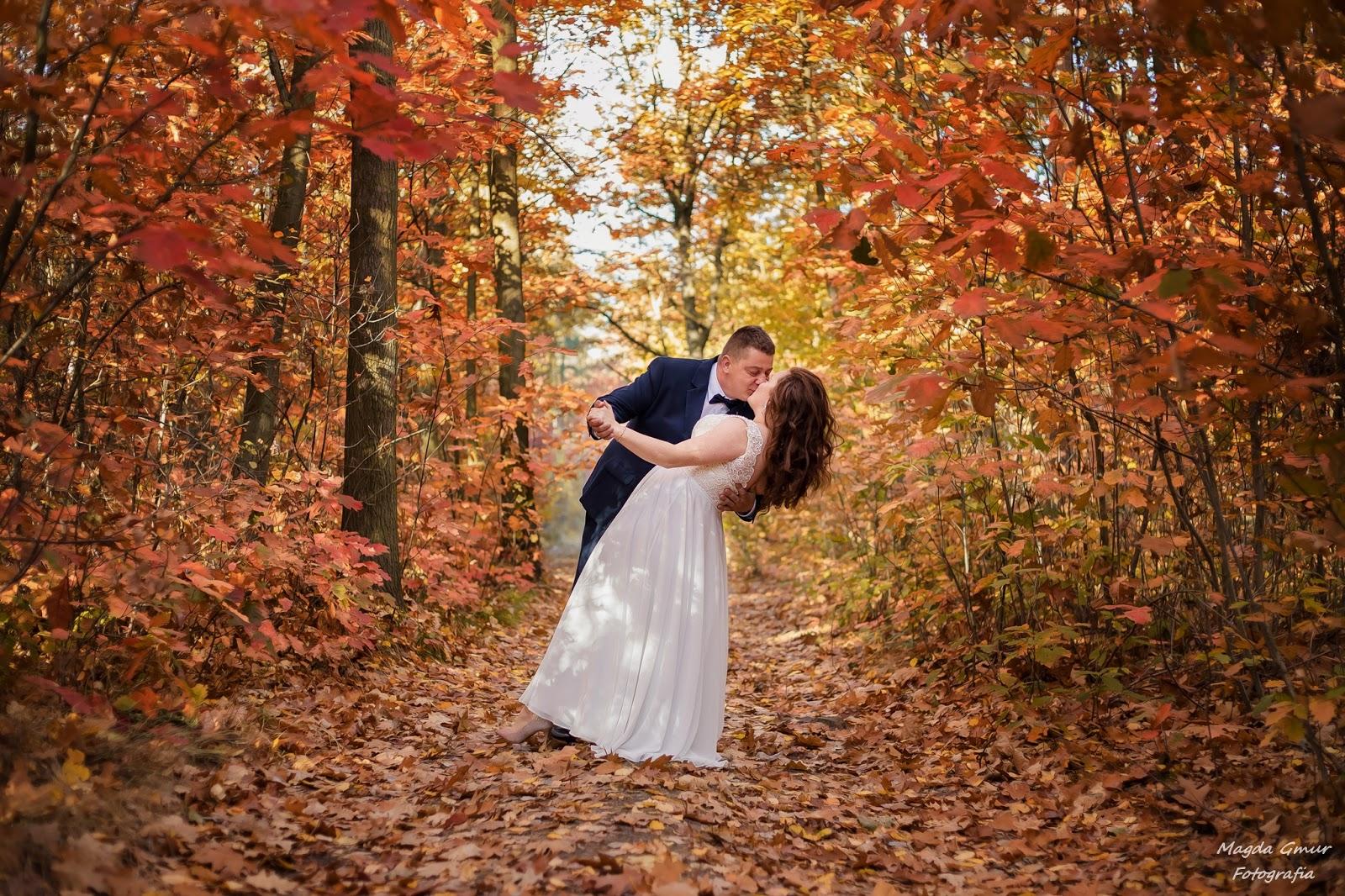 jesienny plener slubny, plener ślubny, jesien sesja fotograficzna. fotograf opoczno, fotograf slubny opoczno, magda gmur fotografia
