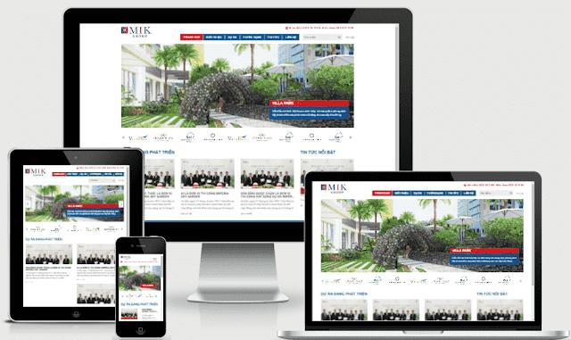 Template blogspot bất động sản web tổng nhiều dự án