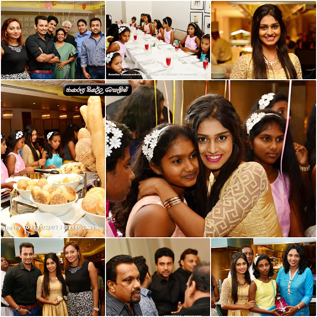 Amateur actress Michelle brings girls of Children's Home who said 'haven't seen Colombo hotels' for a lunch ... to Cinnamon Grand