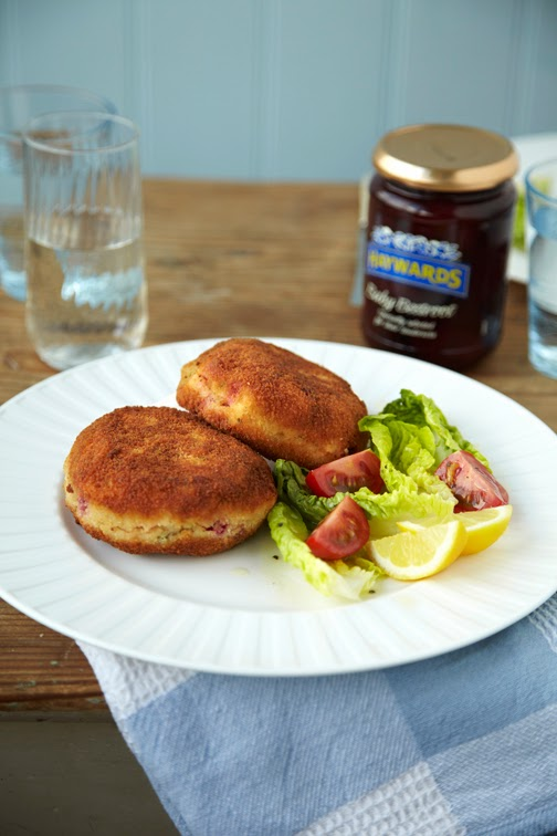 Beetroot fishcakes